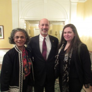 Tina Williams-Brewer, Governor Wolf, Laura Domencic