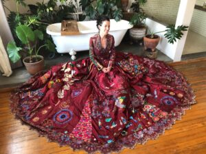 Online lecture with fiber artist Kirstie Macleod- Red Dress Project